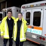Paramedics in Front of Ambulance